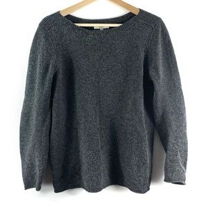 Gray Madewell Boat Neck Sweater Sz M